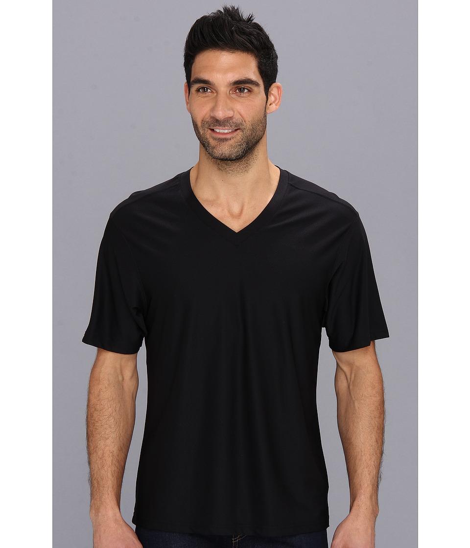 ExOfficio - Give-N-Go V-Neck Tee (Black) Men's T Shirt