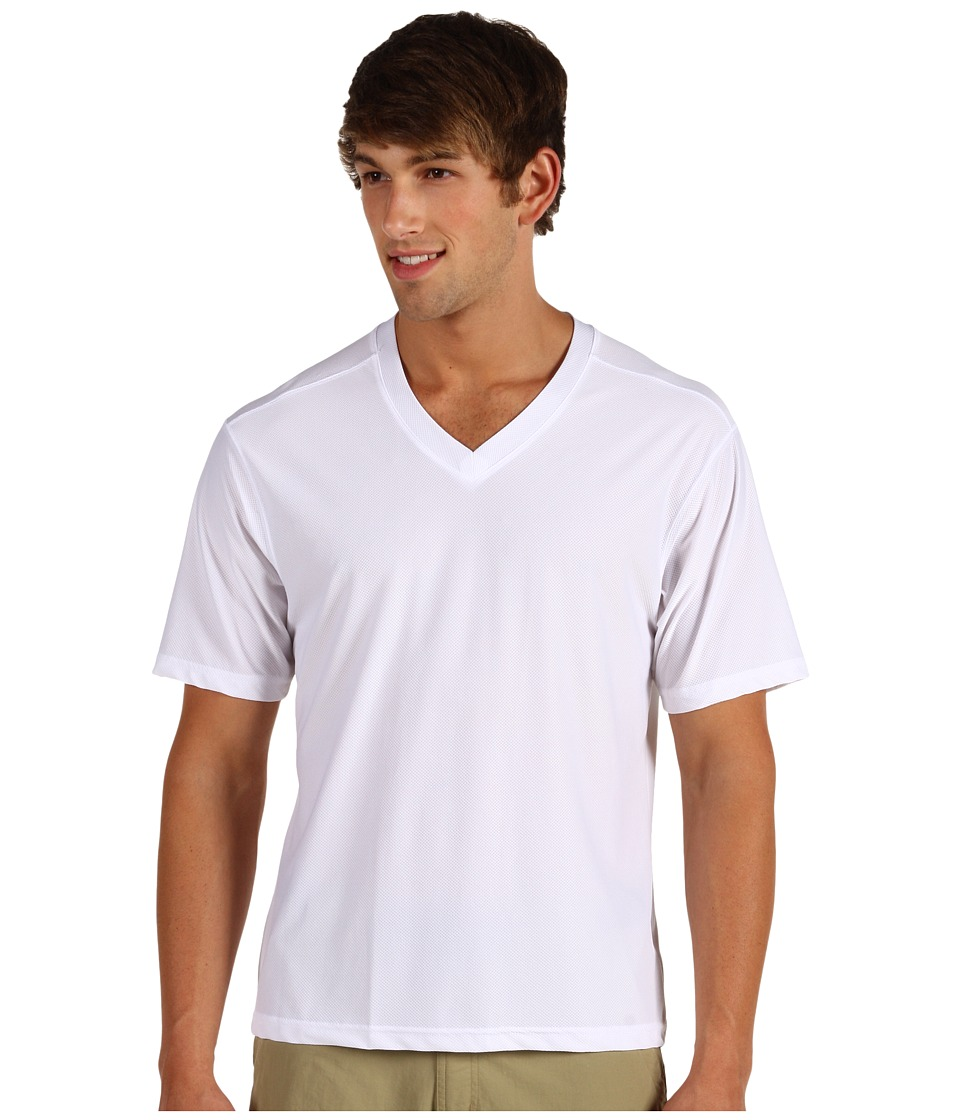 ExOfficio - Give-N-Go V-Neck Tee (White) Men's T Shirt