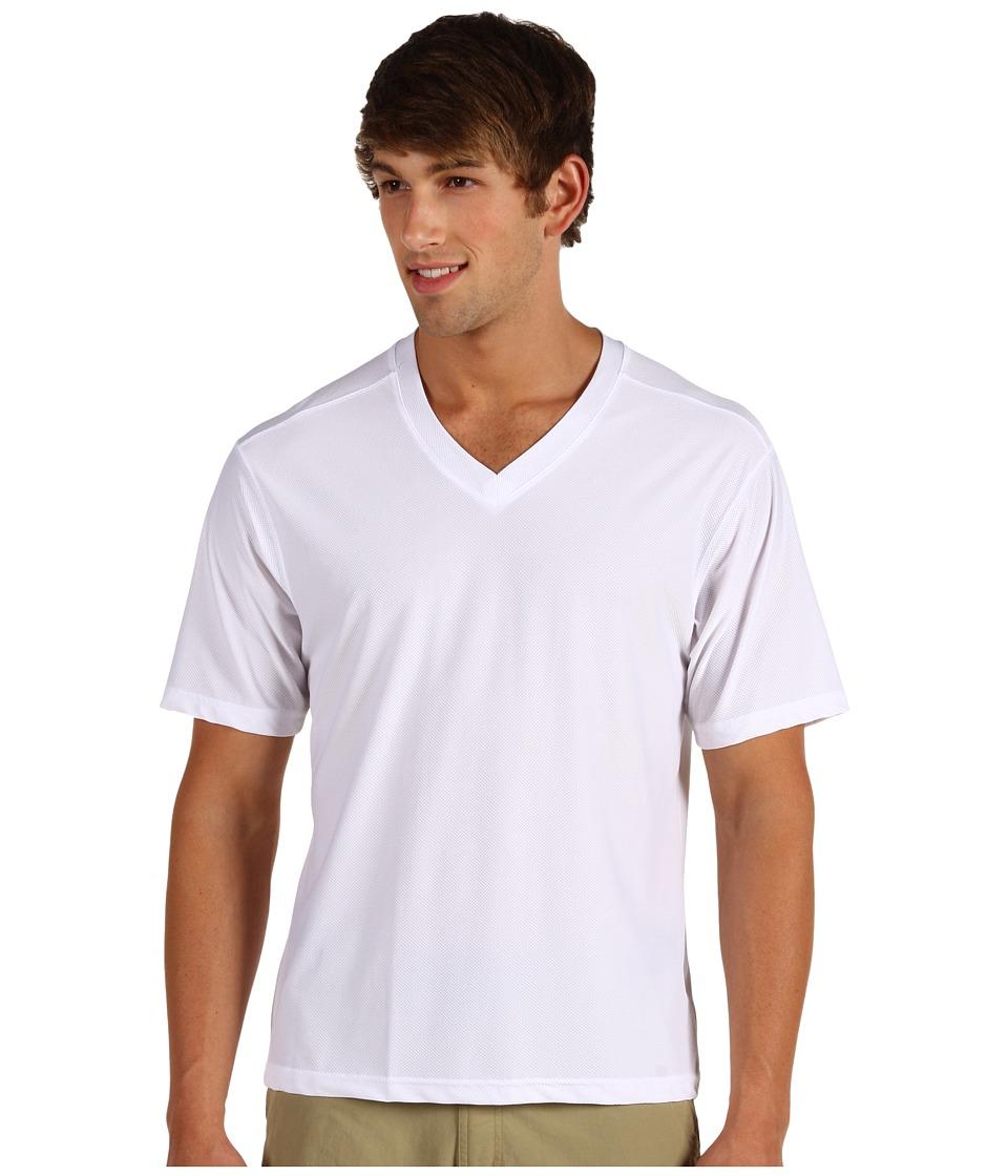 ExOfficio - Give-N-Go V-Neck Tee (White) Men's T Shirt
