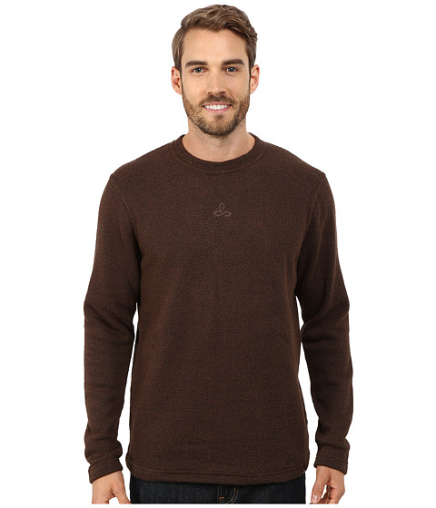 Prana - Sherpa Crew (Brown) Men's Long Sleeve Pullover