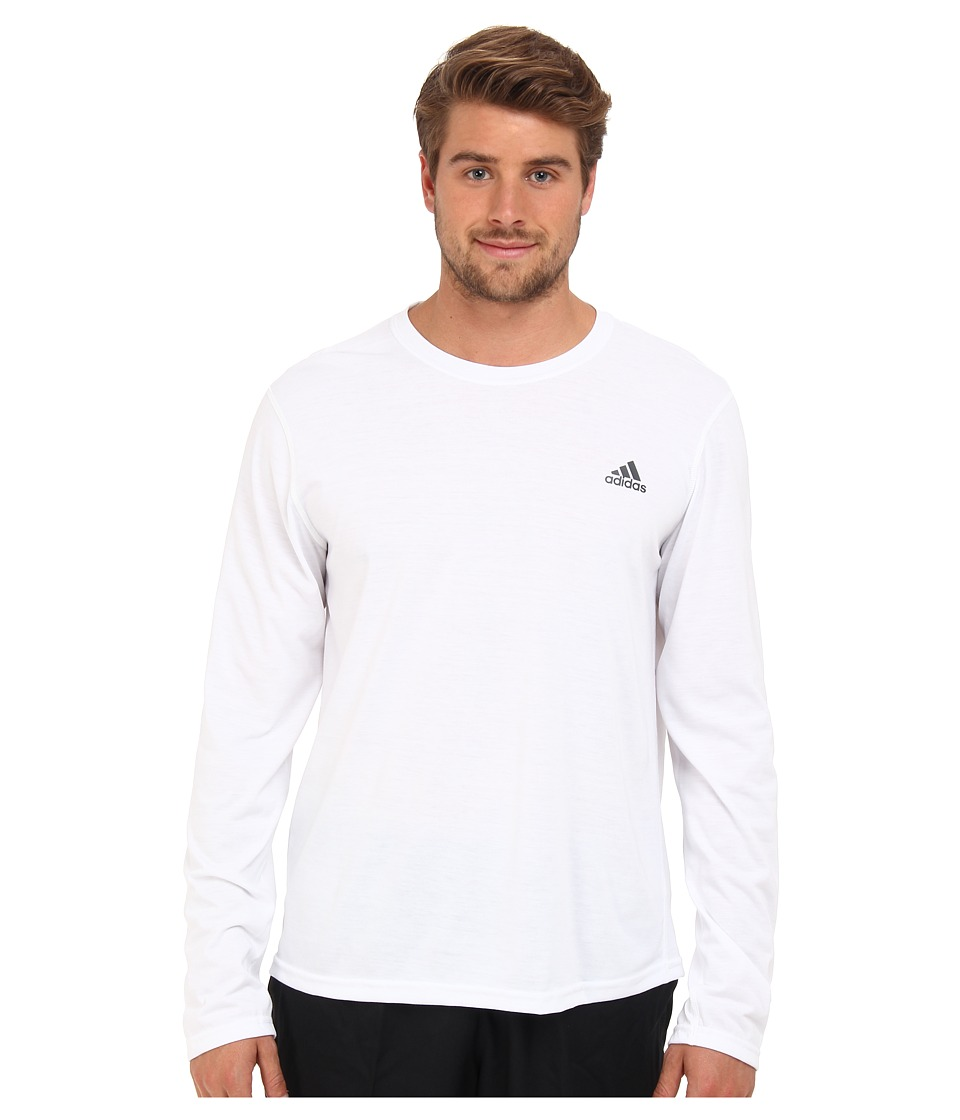 adidas - CLIMA Ultimate L/S Tee (White/Dark Shale) Men's T Shirt