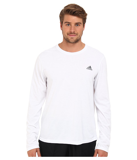 adidas - CLIMA Ultimate L/S Tee (White/Dark Shale) Men