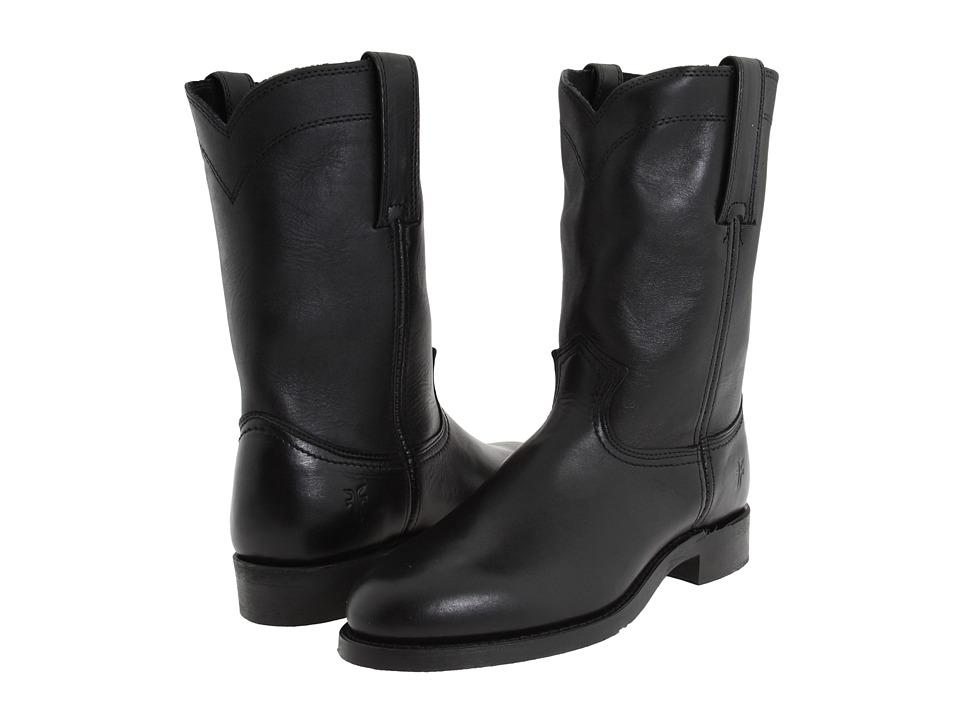 Frye - Roper 10 R (Black) Cowboy Boots