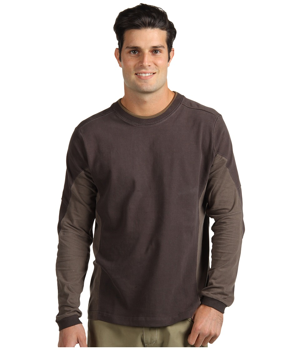 Kuhl - Kontendr L/S Pullover (Dark Brown) Men's T Shirt