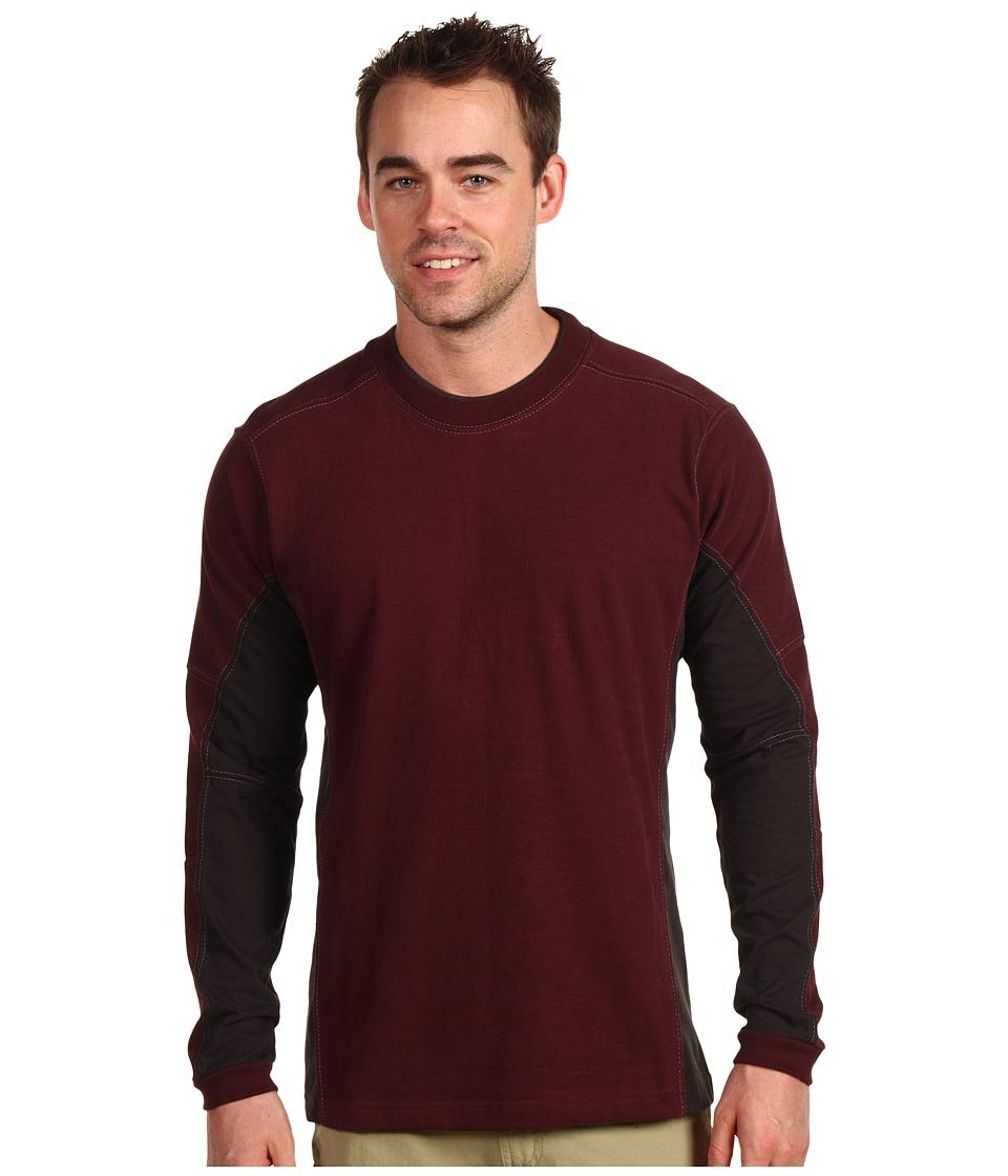 Kuhl - Kontendr L/S Pullover (Brick) Men's T Shirt