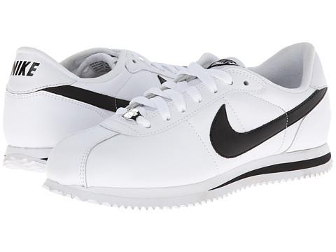Nike - Cortez Leather (White/Metallic Silver/Black) Men
