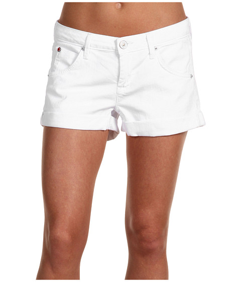 Hudson - Hampton Cuffed Short Short in White (White) Women