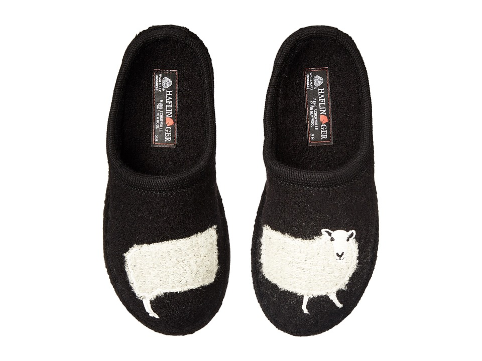 Haflinger Sheep Slipper (Black) Women
