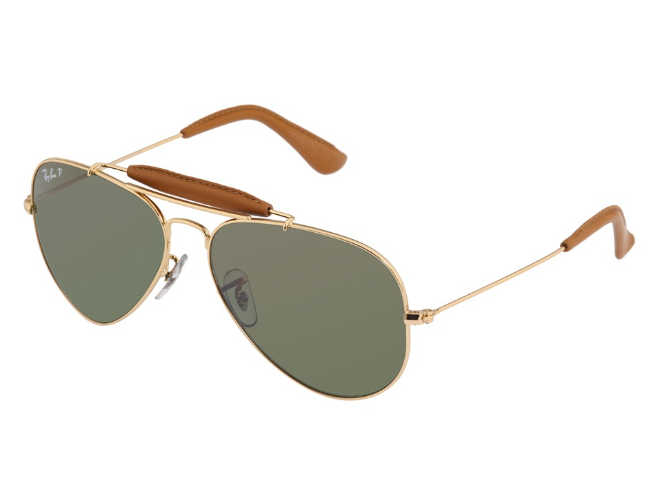 Ray-Ban - RB3422Q Craft Outdoorsman Polarized (Arista/Green Gradient Mirror) Fashion Sunglasses