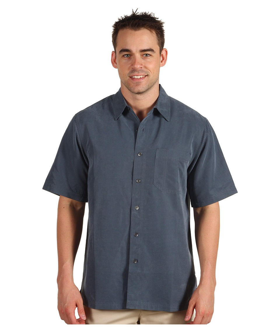 Royal Robbins - Desert Pucker S/S (Slate) Men's Short Sleeve Button Up