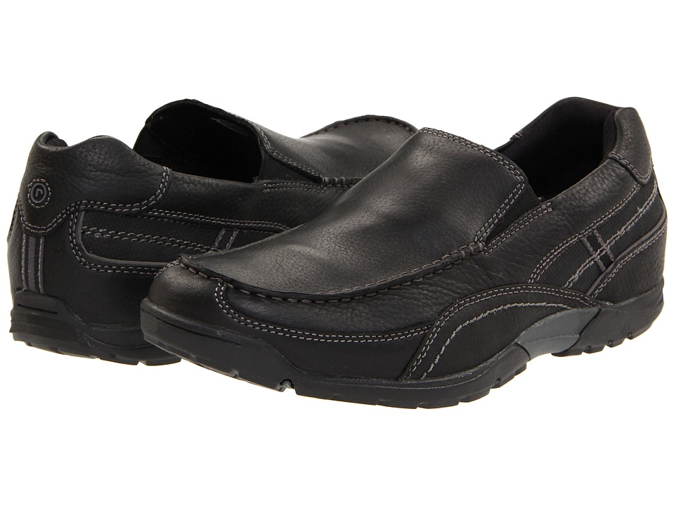 Rockport - City Trail Venetian (Black) Men's Slip on Shoes