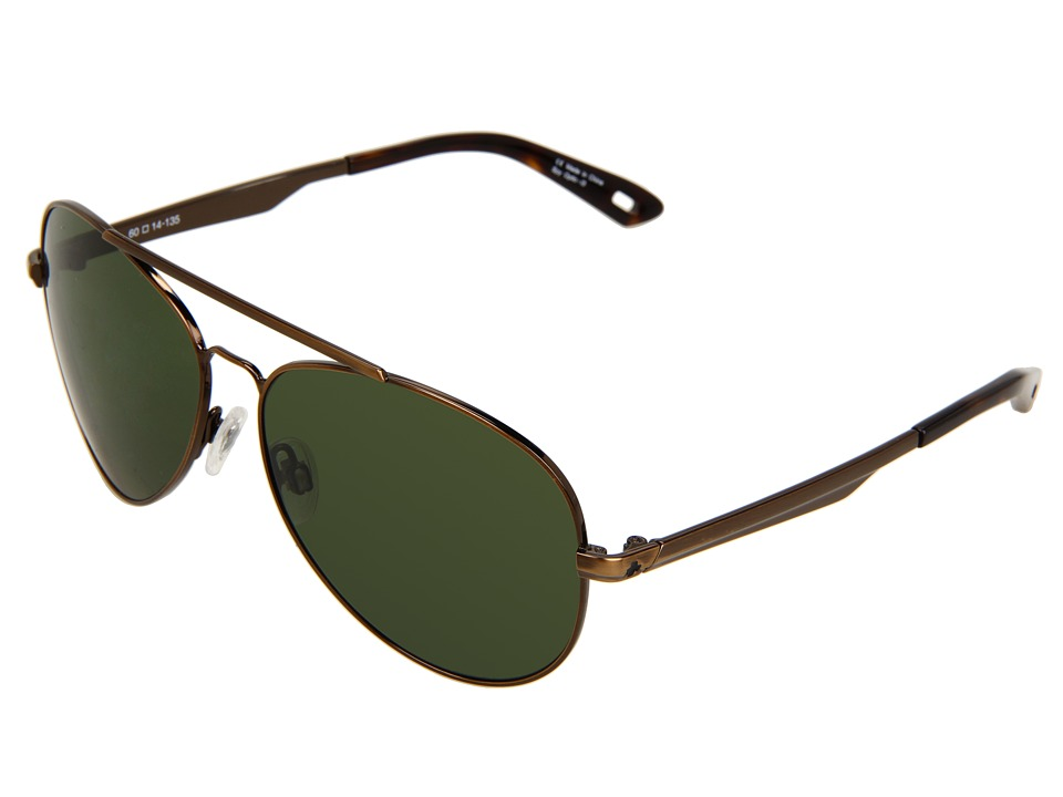 Spy Optic - Parker (Antique Gold/Grey Green Lens) Sport Sunglasses