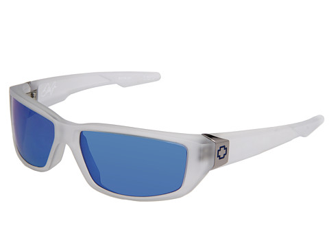Spy Optic - Dirty Mo (Matte Clear/Grey/Blue Spectra Lens) Fashion Sunglasses