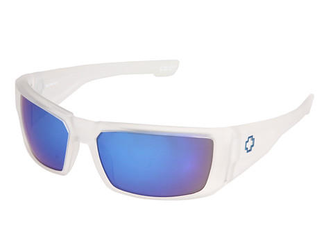 Spy Optic - Dirk (Matte Clear Grey/Blue Spectra Lens) Sport Sunglasses