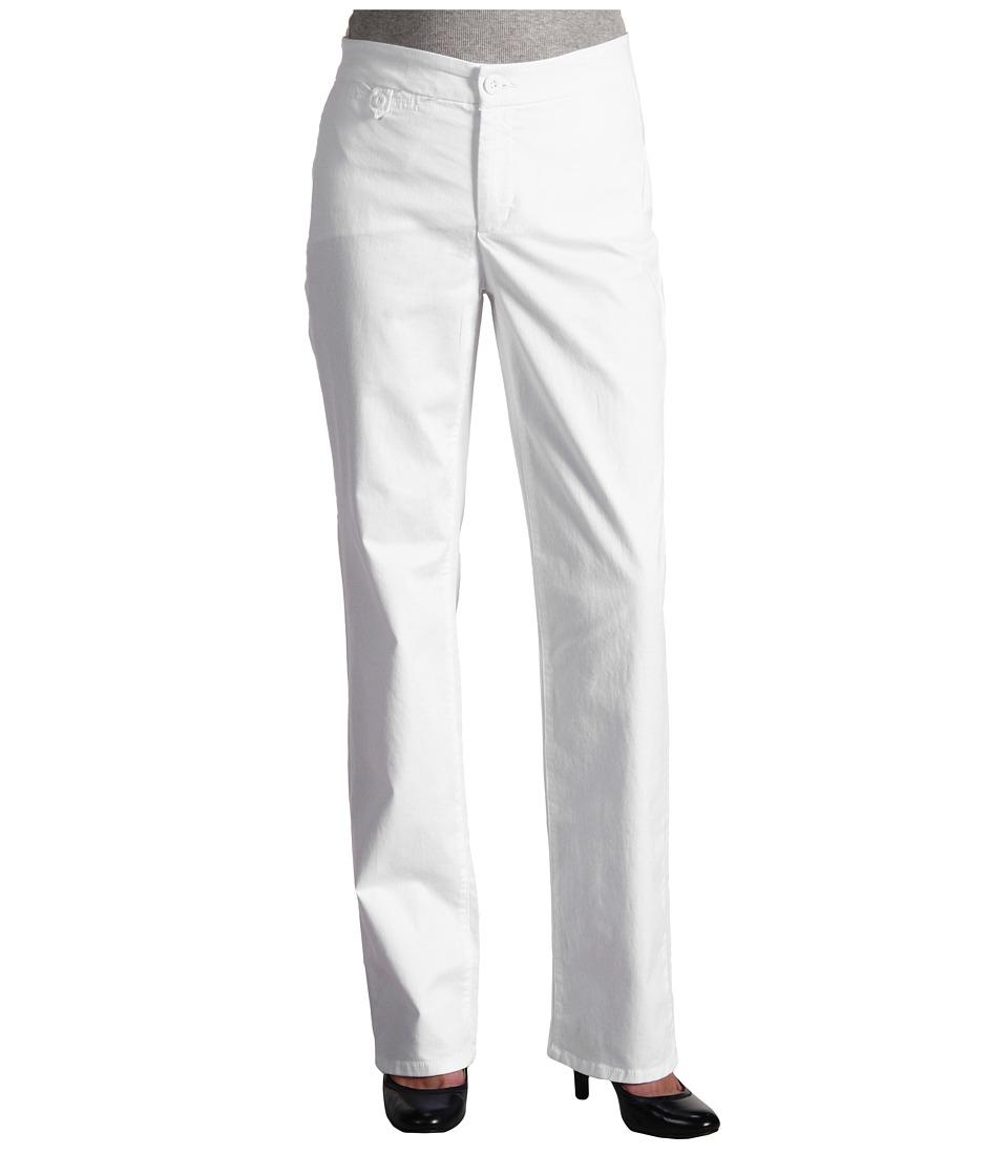NYDJ - Straight Leg Trouser Chino (White) Women