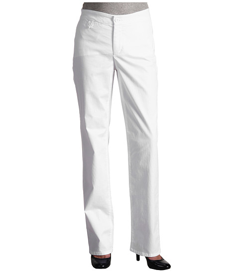 NYDJ - Straight Leg Trouser Chino (White) Women's Casual Pants