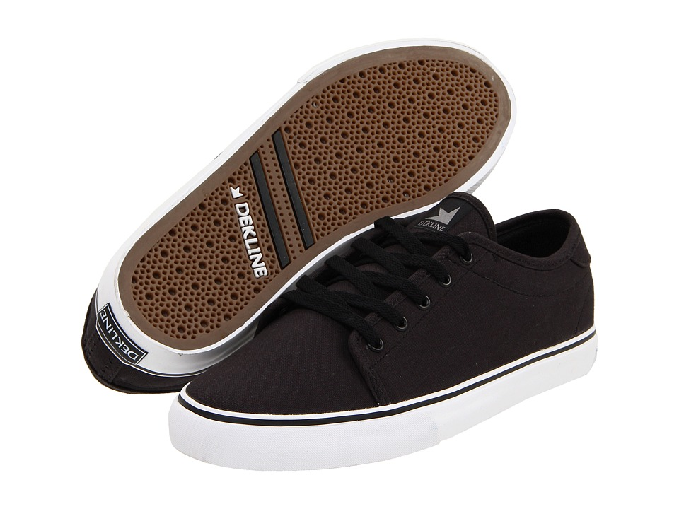 Dekline - Santa Fe (Black/White/Monochrome Canvas) Men's Skate Shoes