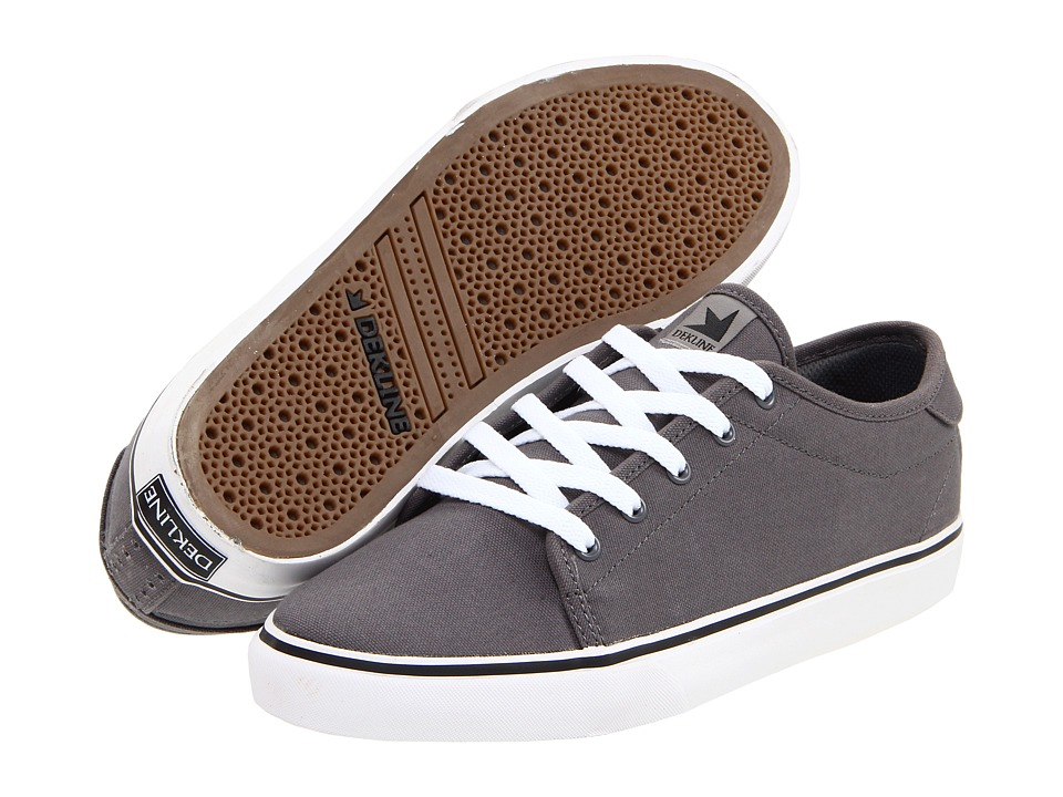 Dekline - Santa Fe (Charcoal/White Canvas) Men's Skate Shoes