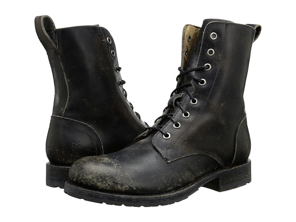 Frye - Rogan Tall Lace Up (Black Stone Wash) Men's Lace-up Boots