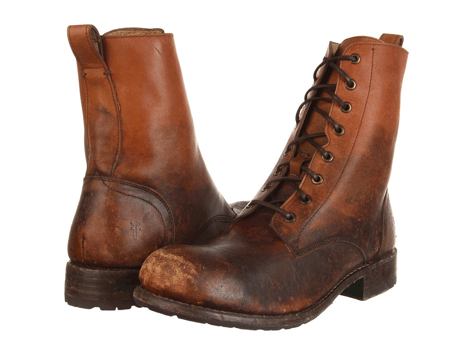 Frye - Rogan Tall Lace Up (Cognac Stone Wash) Men's Lace-up Boots