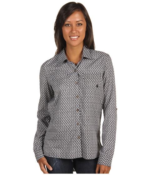 Volcom - Not So Classic Shirt (Black Combo) Women's Long Sleeve Button Up