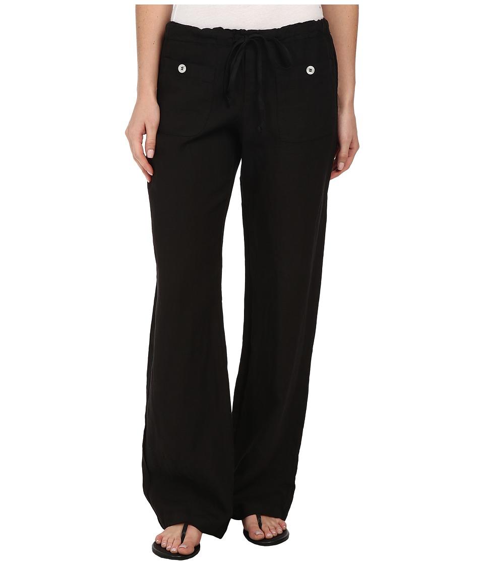 Allen Allen Linen Long Pant LL9497 (Black) Women's Casual Pants