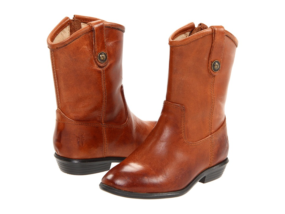 Frye Kids - Melissa Button (Toddler) (Cognac) Cowboy Boots