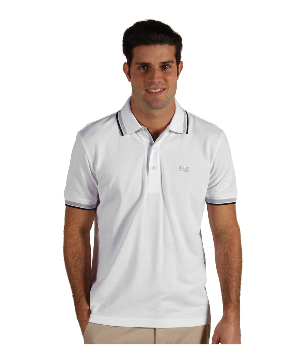 BOSS Green - Paddy Polo 10102943 (Training White) Men's Short Sleeve Pullover
