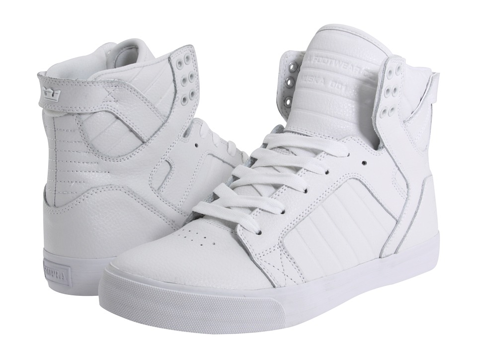 Supra - Skytop (White Action Leather) Men's Skate Shoes