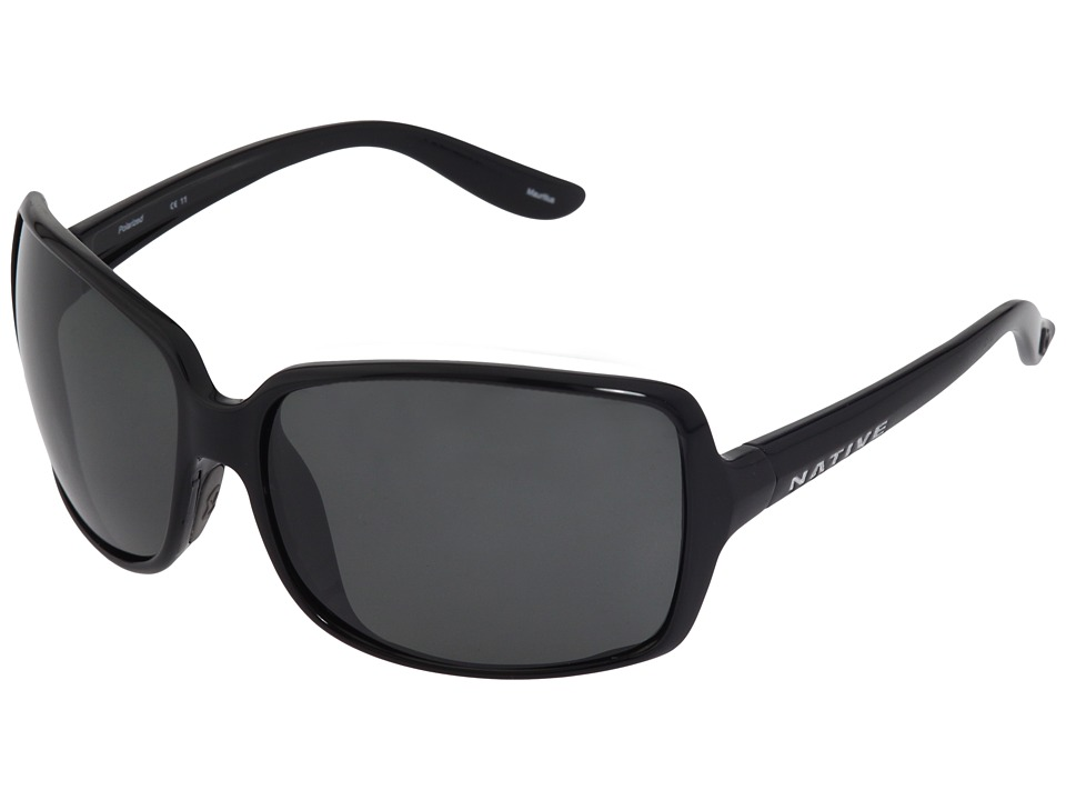 Native Eyewear - Lulu (Iron/Gray Polarized Lens) Sport Sunglasses