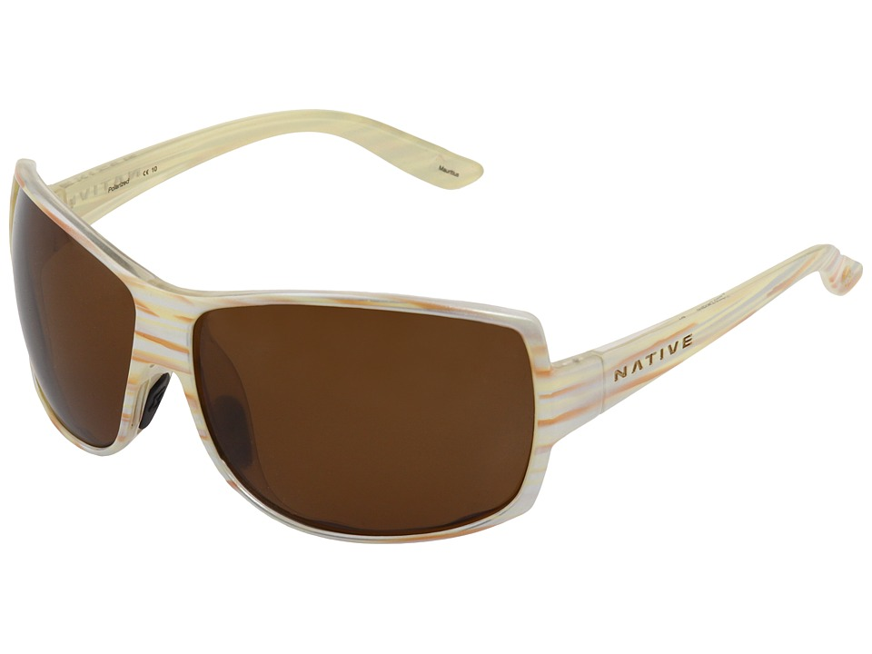 Native Eyewear - Chonga (Pearl Swirl/Brown Polarized Lens) Sport Sunglasses