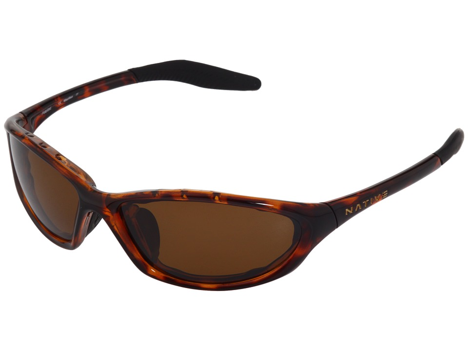 Native Eyewear - Silencer (Maple Tort/Brown Polarized Lens) Sport Sunglasses