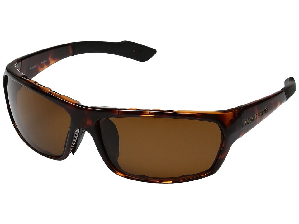 Native Eyewear - Apex (Maple Tort/Brown Polarized Lens) Sport Sunglasses
