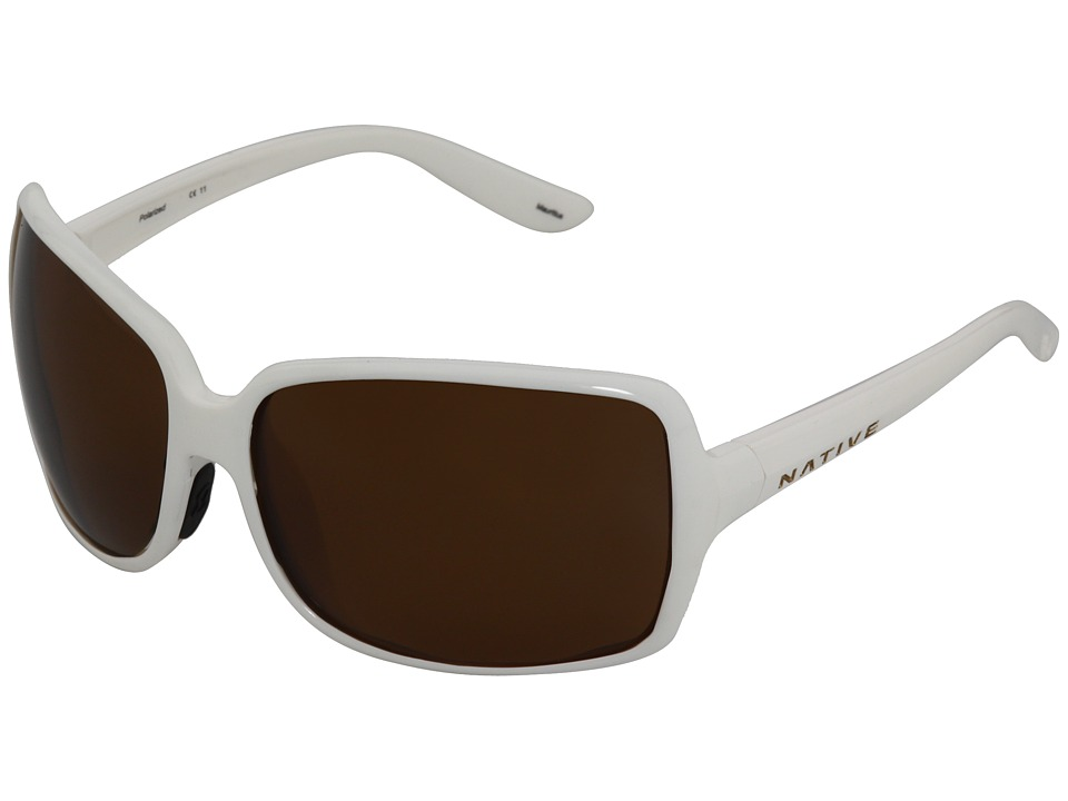Native Eyewear - Lulu (Snow/Brown Polarized Lens) Sport Sunglasses