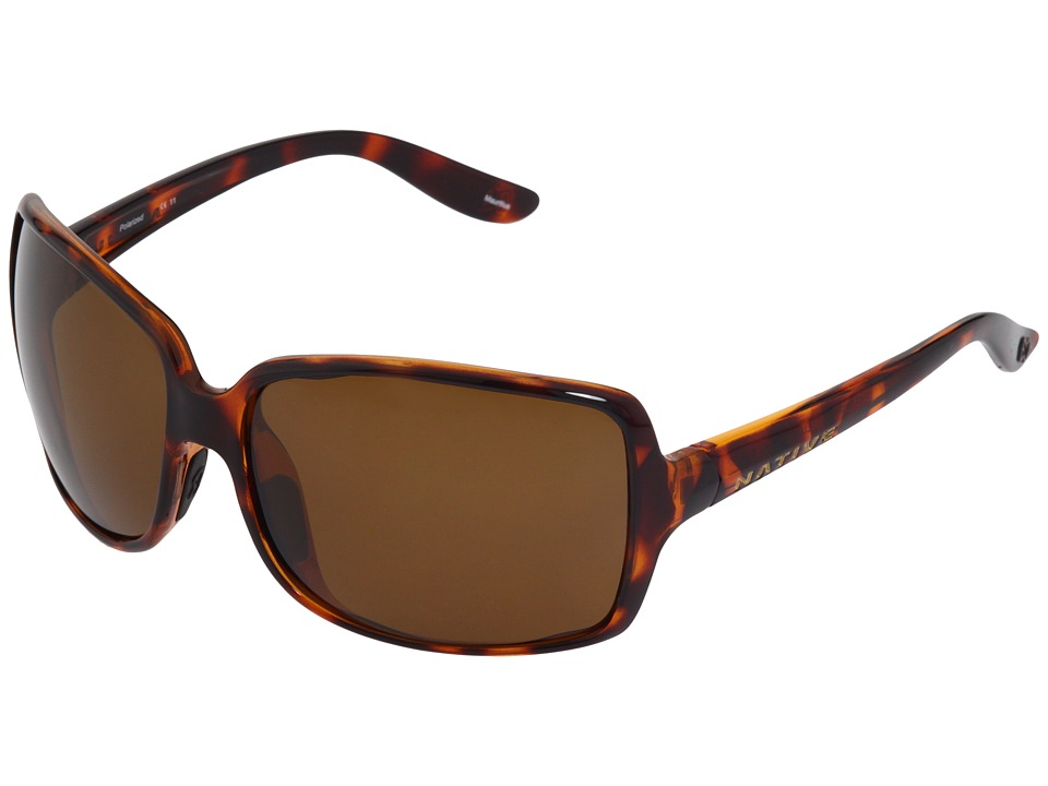 Native Eyewear - Lulu (Maple Tort/Brown Polarized Lens) Sport Sunglasses