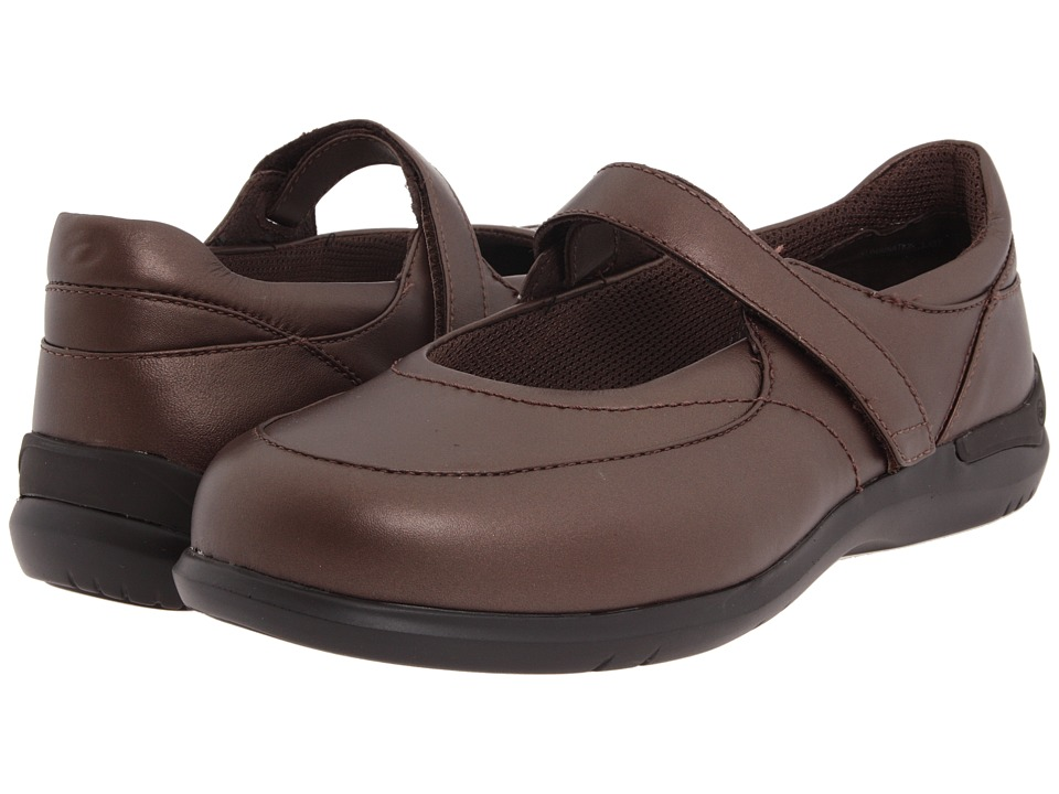 Aravon - Farah (Red-Brown Leather) Women's Maryjane Shoes