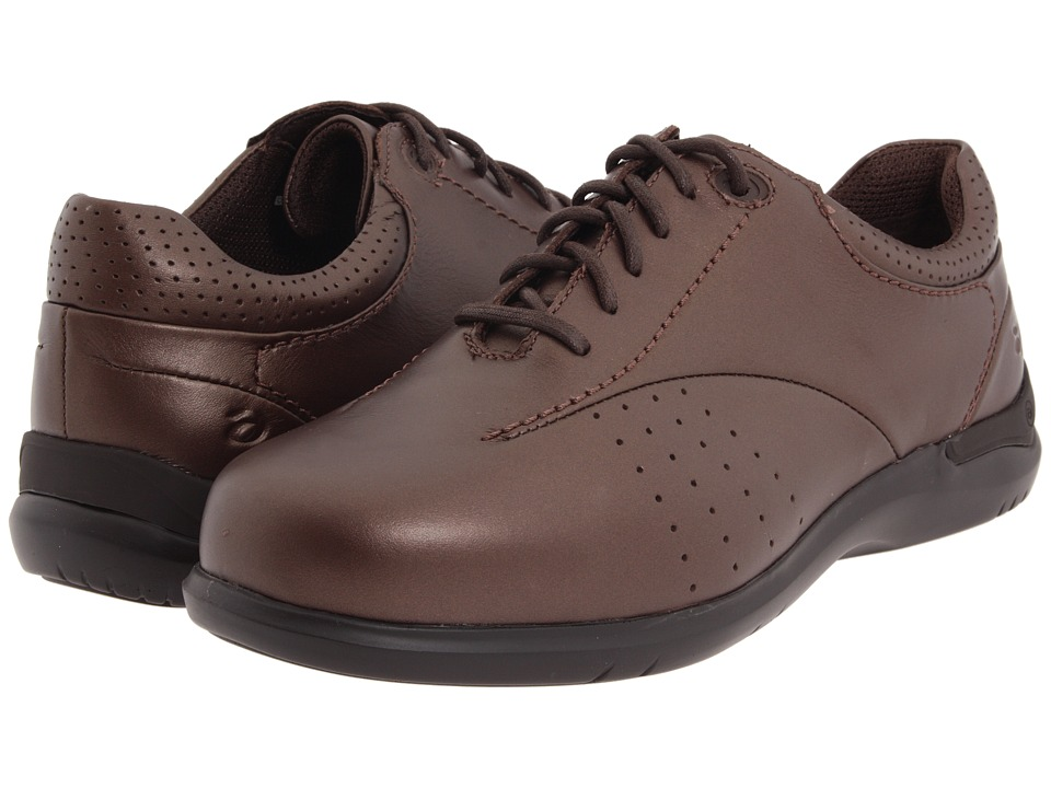 Aravon - Farren (Red-Brown Leather) Women's Lace up casual Shoes