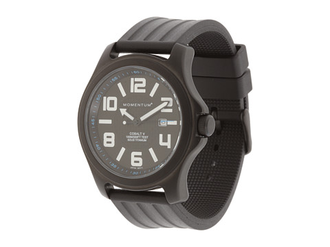 Momentum by St. Moritz - Cobalt V (Black Dial/Black Rubber Band) Watches