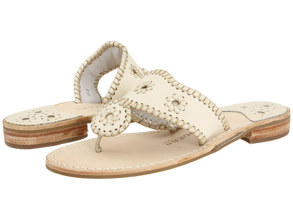 Jack Rogers - Palm Beach Platinum (Creme/Platinum) Women's Sandals