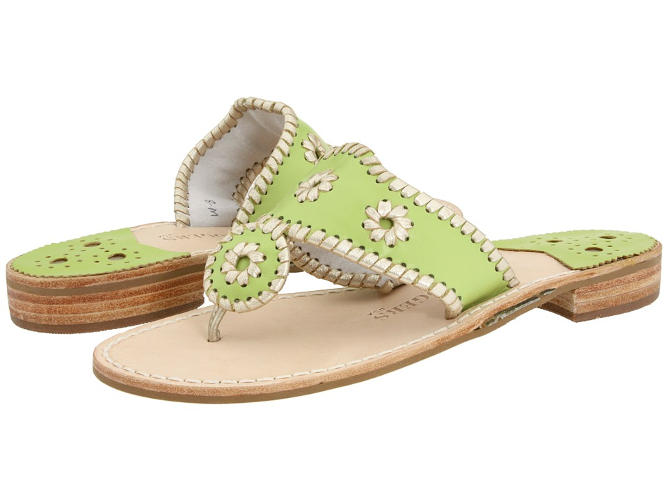 Jack Rogers - Palm Beach Platinum (Lime/Platinum) Women's Sandals