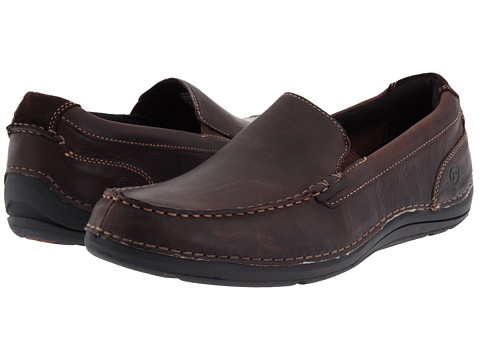 Rockport - Thru The Week Slip On (Dark Brown Leather) Men's Shoes