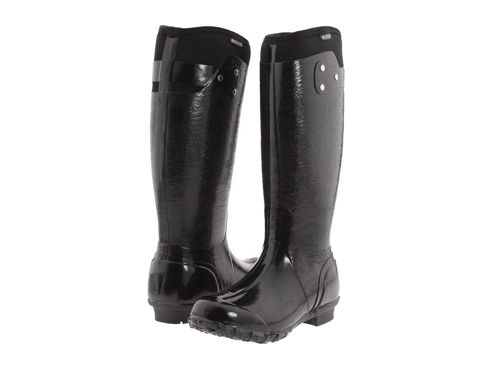 Bogs - Rider Emboss (Black) Women's Boots