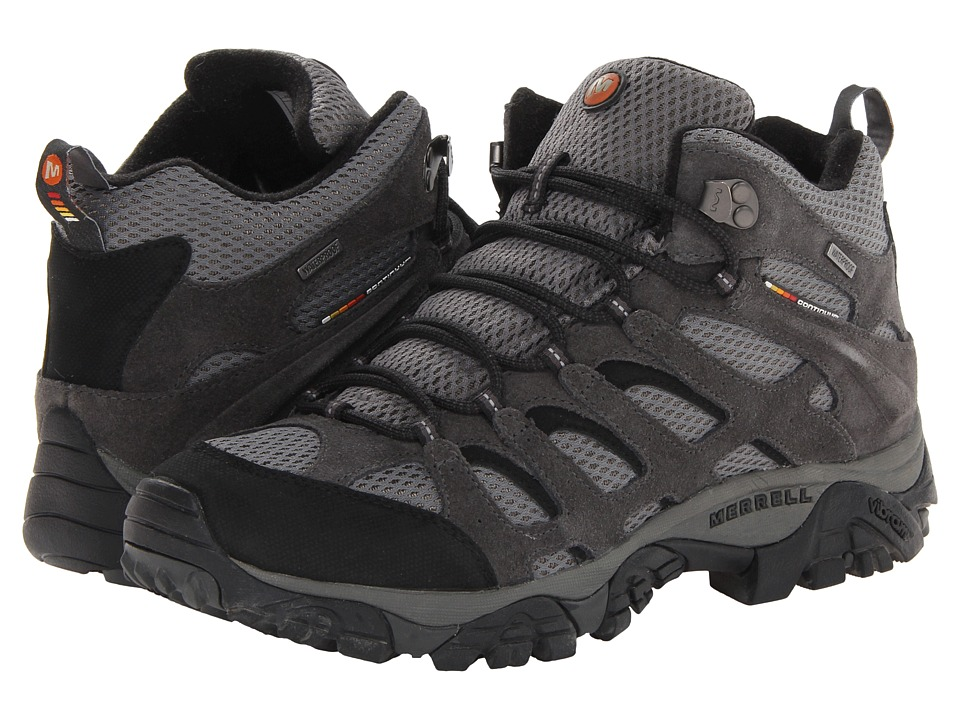 Merrell - Moab Mid Waterproof (Beluga) Men's Hiking Boots