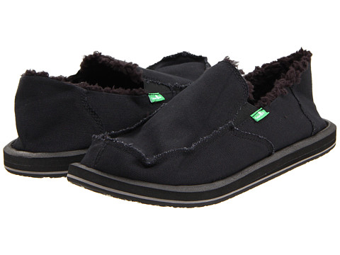 Sanuk - Vagabond Chill (Black) Men's Slip on Shoes