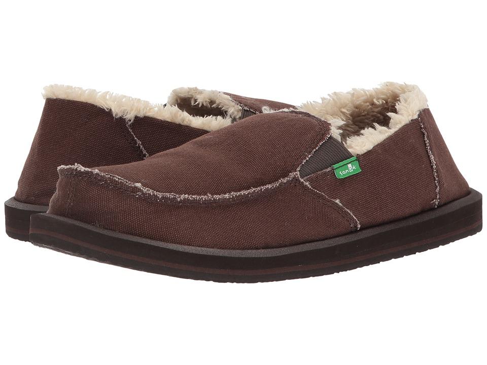 Sanuk - Vagabond Chill (Brown) Men's Slip on  Shoes