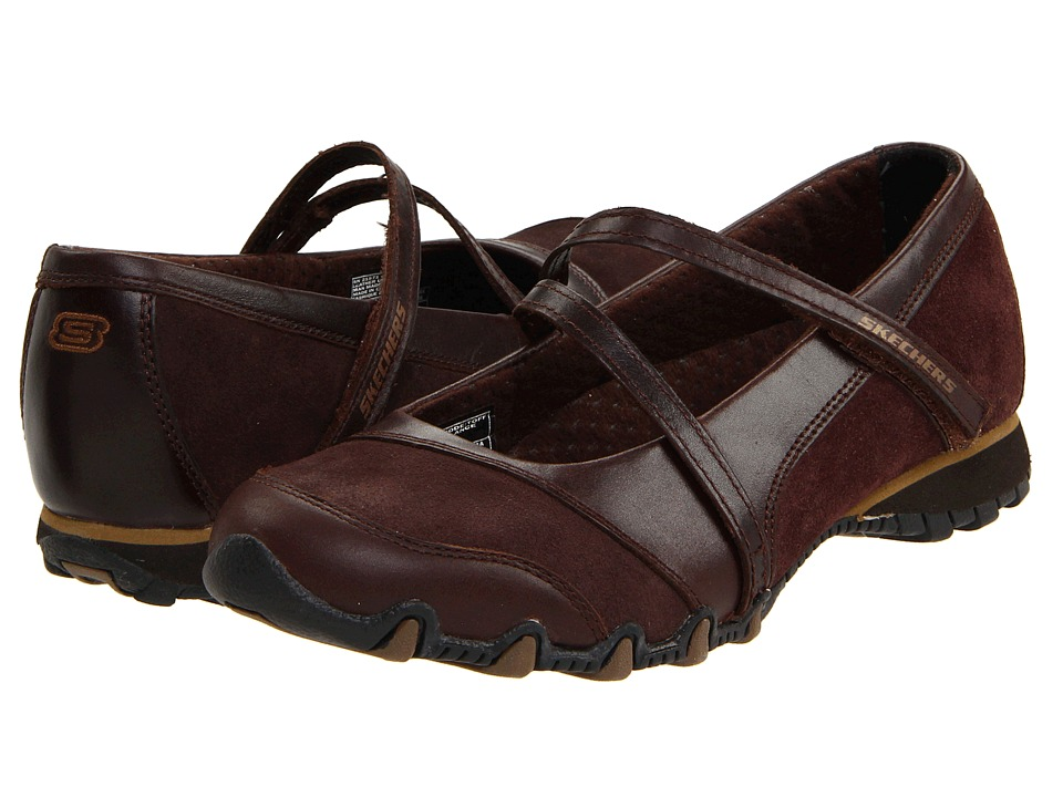 SKECHERS - Bikers - Step-Up (Toffee Leather) Women's Shoes