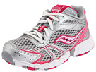 Saucony Kids - Girls Baby Cohesion 4 LTT (Infant/Toddler) (Grey/Silver/Pink) - Footwear