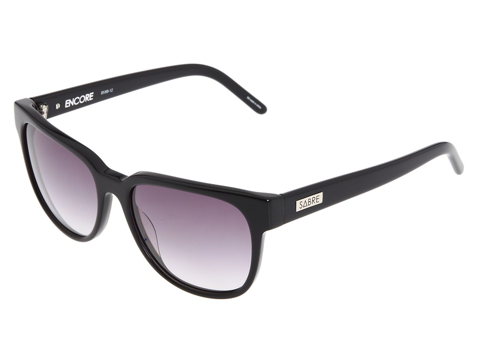 Sabre Vision - Encore (Black/Grey Gradient Lens) Fashion Sunglasses