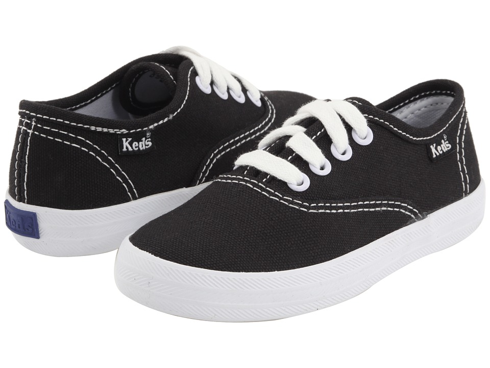 Keds Kids - Original Champion CVO (Toddler/Little Kid) (Black) Girls Shoes