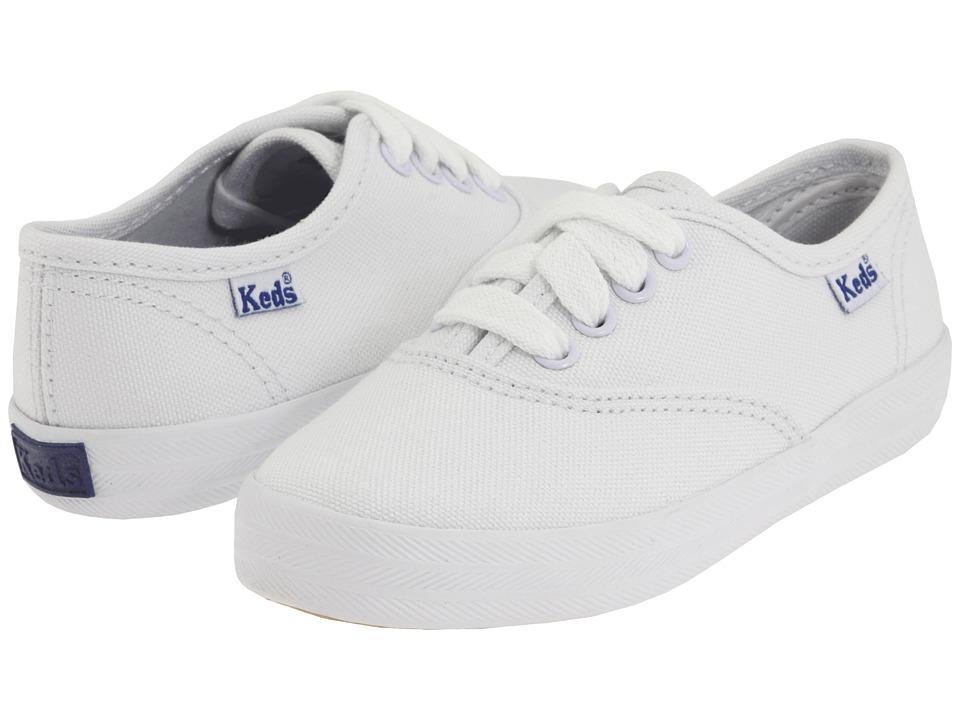 Keds Kids Original Champion CVO (Toddler/Little Kid) (White Canvas) Girls Shoes